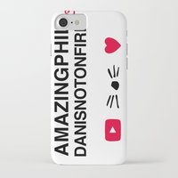 danisnotonfire iPhone & iPod Cases featuring Amazingphil and danisnotonfire by downeymore