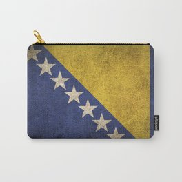 Old and Worn Distressed Vintage Flag of Bosnia - Herzegovina Carry-All Pouch