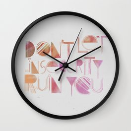 Insecurity Wall Clock