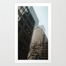 Black & White Buildings Art Print