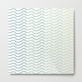 Ombre Waves Metal Print