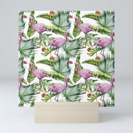 Flamingo Jungle #society6 #buyart Mini Art Print