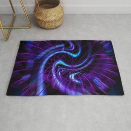 Abstract in Perfection - Magic of the circle  Rug