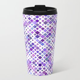 Purple Squared Metal Travel Mug