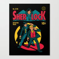 tintin Canvas Prints featuring Sherlock Comic by harebrained