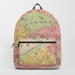 Vintage Map of Boston MA (1876) Backpack