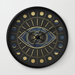 The Third Eye or The Sixth Chakra Wall Clock