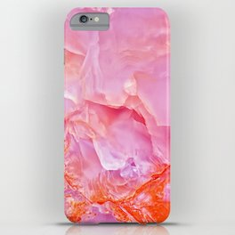 Pink onyx marble iPhone Case