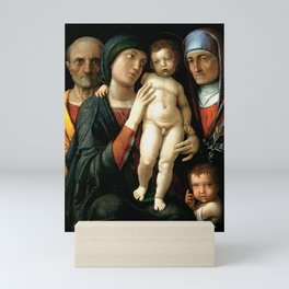 Andrea Mantegna - The Holy Family (1490s) Mini Art Print