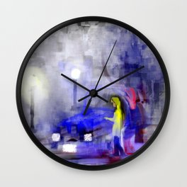 Oil Spill Gone Bad Wall Clock