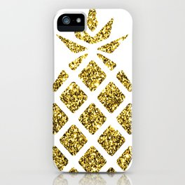Colorful Pineapples Gold iPhone Case