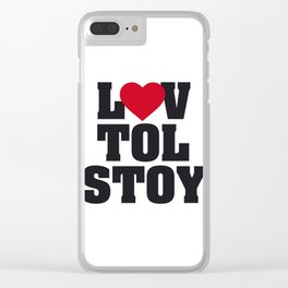 Lev LOVE Tolstoy Clear iPhone Case