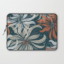 Stylized aster flowers Laptop Sleeve