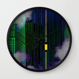 Atlante 21-06-16 / YELLOW WINDOW Wall Clock