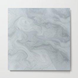 Elegant Blue Grey Marble Metal Print