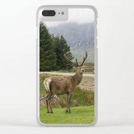 Scottish Deer Top Model Clear iPhone Case