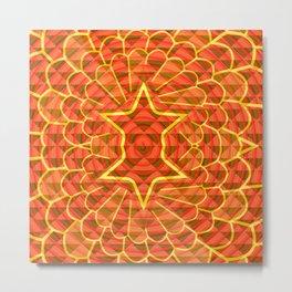 Orange trance Metal Print