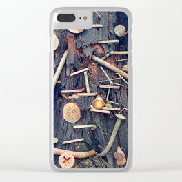 Releasing the Nails From My Heart's Past Wounds Clear iPhone Case