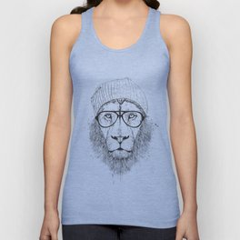 Cool lion (bw) Unisex Tank Top