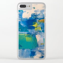 Morning bluesss Clear iPhone Case