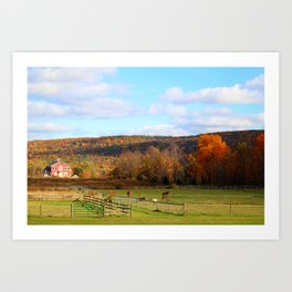 Fall Colors In The Finger Lakes Art Print