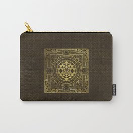 Gold Sri Yantra  / Sri Chakra Carry-All Pouch