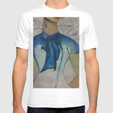 Vogue MEDIUM White Mens Fitted Tee