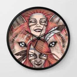 She Wolf Wall Clock