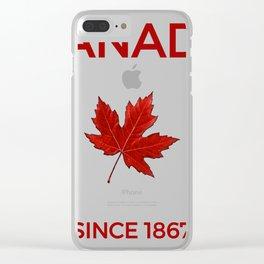 Canadian Maple Leaf & Canada Gift & Souvenir Print Clear iPhone Case