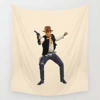 indiana Wall Tapestries featuring Indiana Solo by Parissis