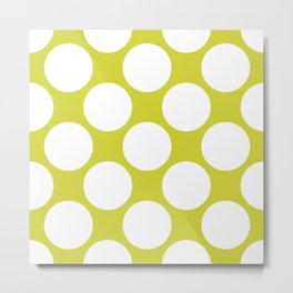 Polka Dots Green Metal Print