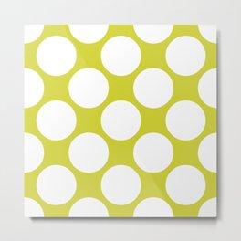 Polka Dots Green Metal Print