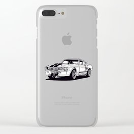 Classic american muscle car icon shilouette vector graphic Clear iPhone Case