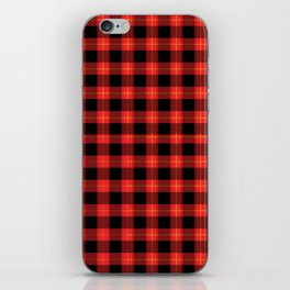 Red Buffalo Plaid Flannel Pattern iPhone Skin