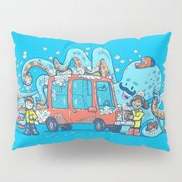 Octopus Carwash Pillow Sham