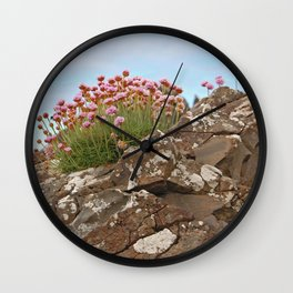 Giant's Causeway flowers Wall Clock