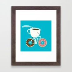 Coffee and Donuts Framed Art Print