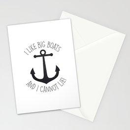 I Like Big Boats And I Cannot Lie! Stationery Cards