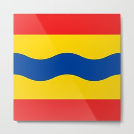 Flag of Overijssel Metal Print