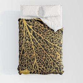 gold leaf skeleton Comforters
