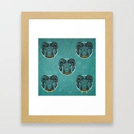 THE SHE GOATS & THEIR BEARDS Framed Art Print