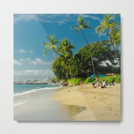 Kamehameha Iki Park Beach Lāhainā Maui Hawaii Metal Print