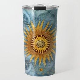 """""""Saturn mandala celestial vault"""" Travel Mug"""