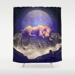 Under the Stars III (Leo) Shower Curtain
