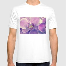 violet orchid Mens Fitted Tee White MEDIUM