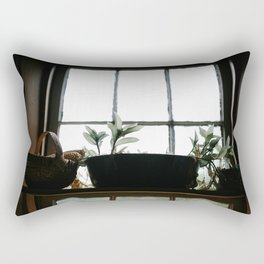 Plants in the Pantry Window Rectangular Pillow