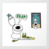 Crap! Art Print