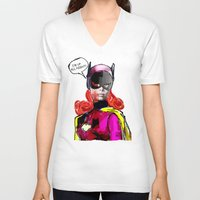 batgirl V-neck T-shirts featuring Batgirl by Ed Pires