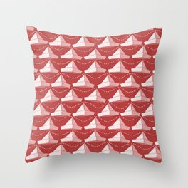 Paper Hats Pattern | Red Throw Pillow