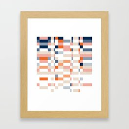 Connecting lines 4. Framed Art Print